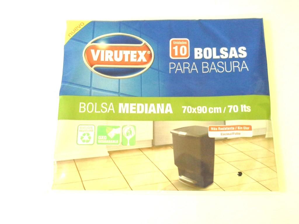 Bolsa Basura Virutex 70x90