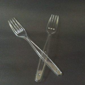 Tenedor plastico Cristal